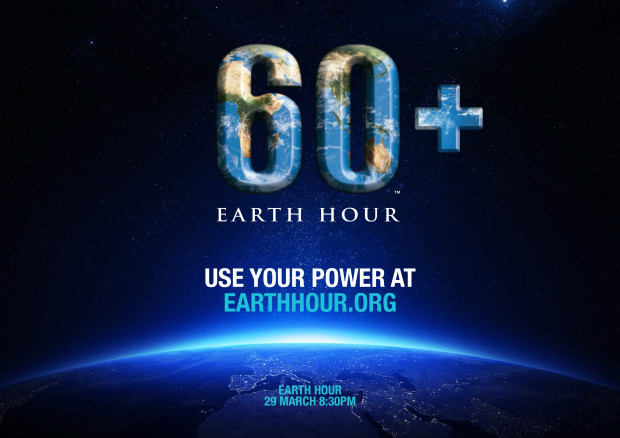 Earth Hour Blue Horizontal Poster